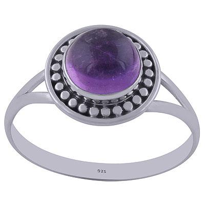 2.3gram Amethyst Silver Rings