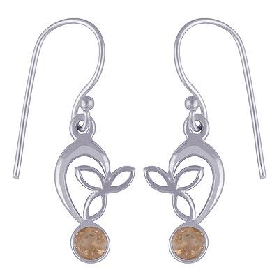 2.1gram Citrine Silver Earrings