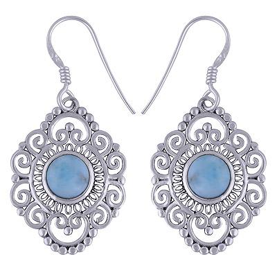 6.8gram Larimar Silver Earrings