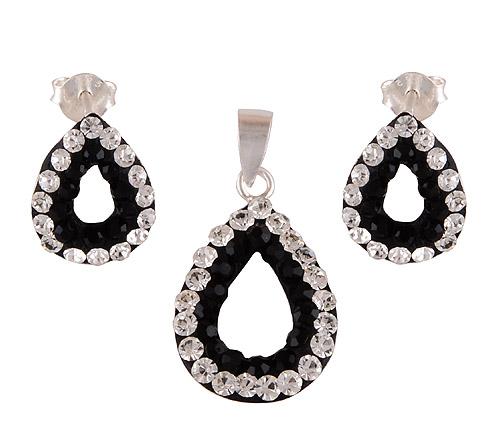 1.9gram Swarovski Crystal Silver Jewellery Sets