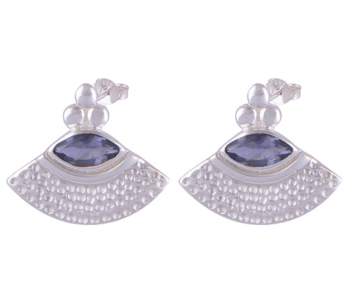 8.6gram Iolite Silver Earrings