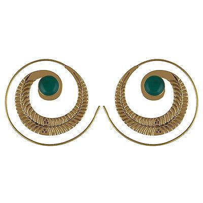 14gram Green Onyx Fashion Earrings